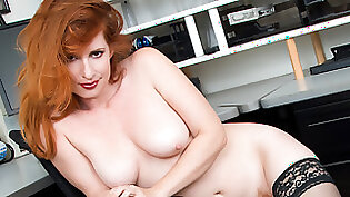 redhead beauty office fucked and creampied by boss