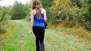 Beautiful black chick loves getting fucked outdoors