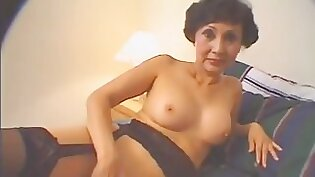 Asstastic milf in pink lingerie provides dude with solid blowjob