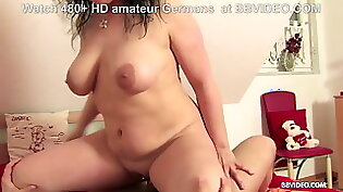 Slutty Mature German Luisa shows her body to a married old man