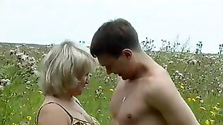 Russian Mature Beautys Outdoor Pussy