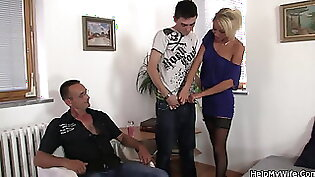 Wife gives hubby cash for sex skills Silly Young Vixens