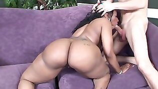 Black babe leaves white man screaming behind in the ass