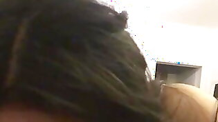 Amateur GF giving blowjob and getting
