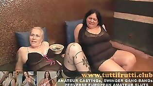 Two naughty euro orgy with Public Agent