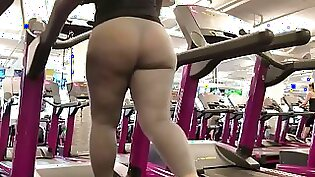 Alicia does on her stormy gym salami booty
