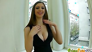 Busty girl is riding two dicks passionately