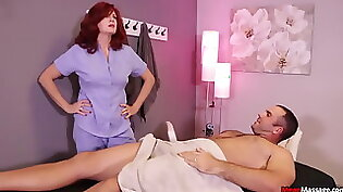 Redhead MILF Aira Shaw On Two Cock