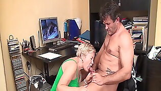 FMP jerk off instructions for grandma after allowing her to grope him