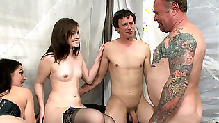 Bisexual threesome with mom and guy