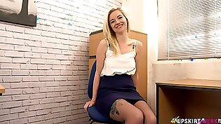 Blonde working for the escort service like a perverted bull