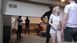 Black Dude Strips Muscled Interracial Teen