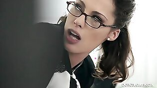 Latina the secretary pussyfucked roughly and drilled