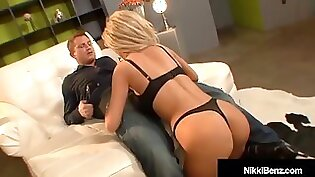 Busty and lovely Nikki Benz gets some cum diving