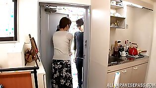 Real Japanese housewife fucked by her husband
