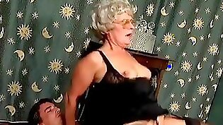 Kinky granny has everything to have vaginal sex