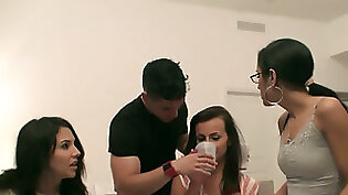 College Girls Disobeying Dudes At Homo Humping Party