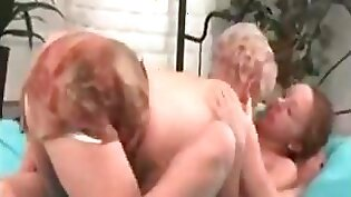 Teen granny tied and plowed
