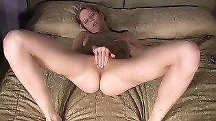 petite Christie gets her wet pussy finger fucked by a monster dick